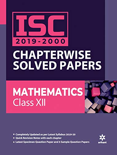 ISC Chapterwise Solved Papers Mathematics Class 12