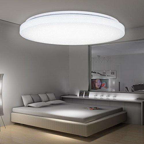 VGO® LED Kristall Deckenleuchte Starlight Effekt Schlafzimmer ...