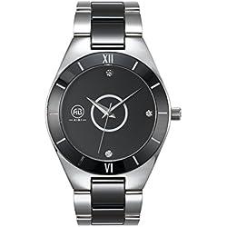 AIBI Herren Herren wasserdichte analoge Quartz Edelstahl schwarz Zifferblatt Armbanduhr