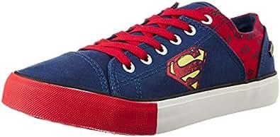Superman Men's Navy and Red Sneakers - 11 UK/India (46 EU)