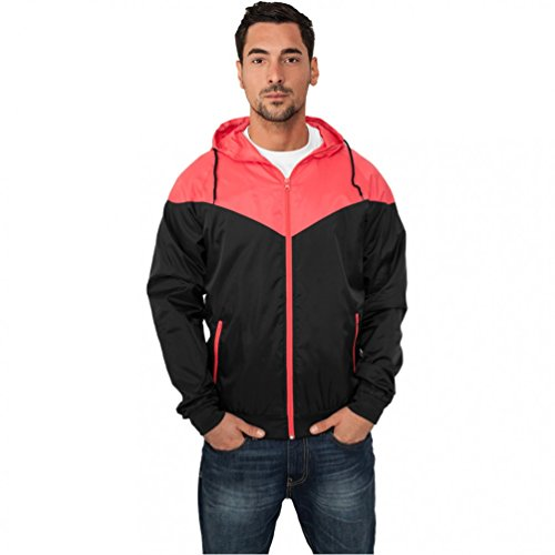 Urban Classics Herren Jacke Bekleidung Arrow Windrunner Black/Infrared