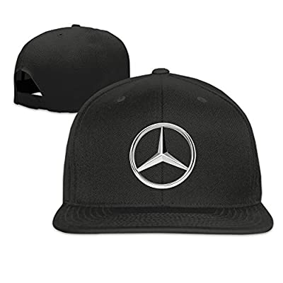 Hittings MKCOOK Mercedes Benz Logo Flat Baseball Caps Hats For Unisex Black