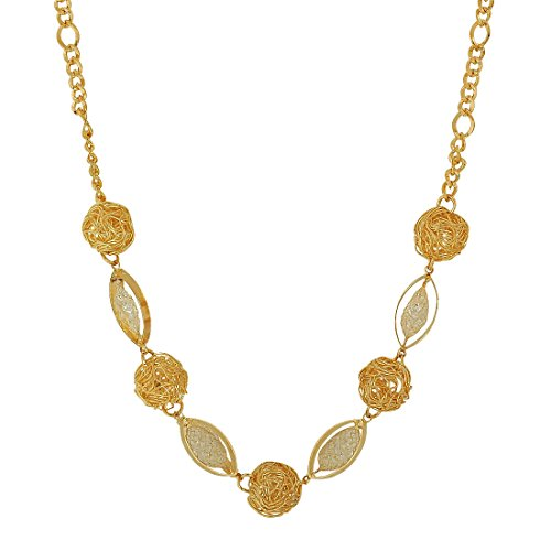 Maayra Stone Crystals Pendant Gold Cocktail Party Jewellery - Terrific, Rhodium Plated, Brass based  available at amazon for Rs.410