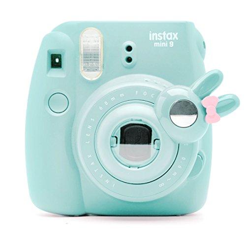 Süßes Häschen Selfie und die Nahaufnahme Lens für Fujifilm Instax Mini8 Mini9 Hellokitty Instant Kamera(Eis Blau) Hello Kitty Kamera