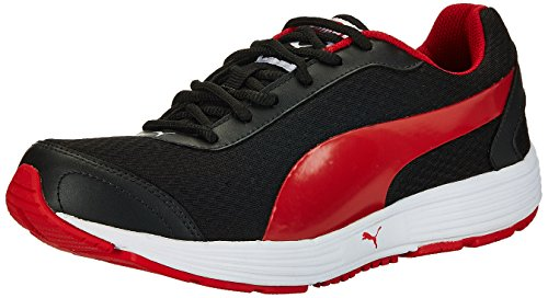 8. Puma Men's Reef DP Black and High Risk White Running Shoes