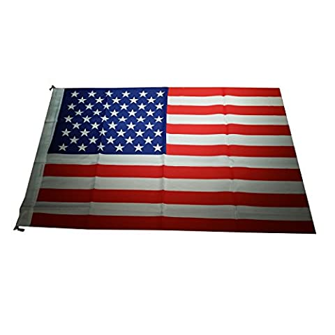 American Flag Souvenir with Hooks for Easy Display! Measures 2