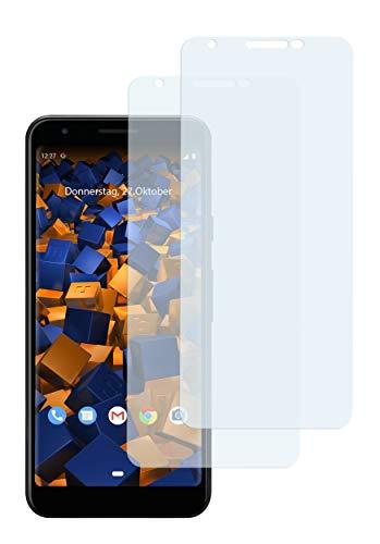 mumbi Schutzfolie kompatibel mit Google Pixel 3a Folie klar, Bildschirmschutzfolie (2x)