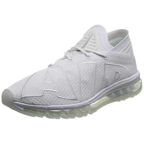 41qOMG2wKKL. SS500  - Nike Mens - Air Max Flair - Triple White - 942236-100