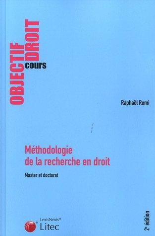 Méthodologie de la recherche en droit.
