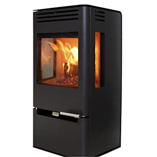 Aduro 7 with Drawer - Black Danish 7kW wood burning stove