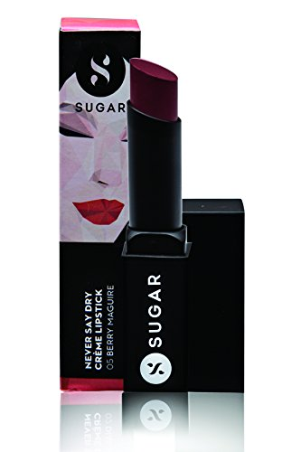 SUGAR Never Say Dry Crème Lipstick - 05 Berry Maguire (Deep Berry Red)