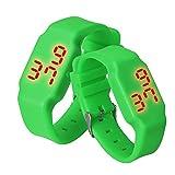 WMWMY Die Uhren von Frauen Für Frauen Hot Sale Herren Multifunktionshebel Frauen Silikon Digitalen Uhren Digitale LED Armbanduhr Sportuhren, Grün