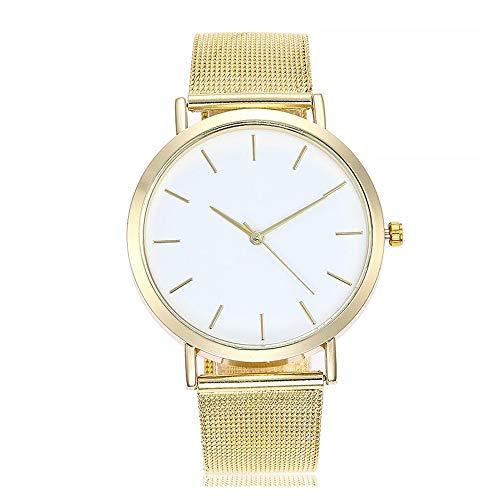 Armbanduhr für Damen Marmor-Zifferblatt Uhr mit Milanaise-Armband Slim Uhr mit Milanaise-Armband