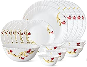 Larah by Borosil RedLily Dinner Set