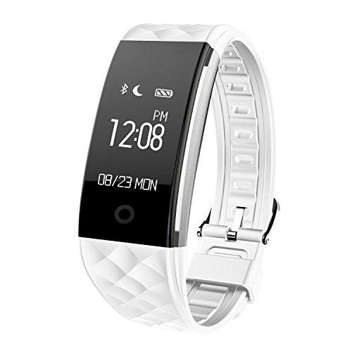 74fa09a899d9 SoloKing T20 Pulsera Inteligente,Bluetooth 4.0 wristband IP67 Impermeable  Reloj Fitness,Monitor de ritmo cardíaco.Contador de Calorías, Podómetro ...