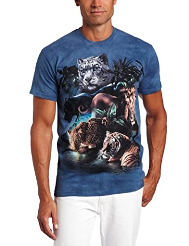 The Mountain Unisexe Adulte Grands Felins La Jungle T Shirt,