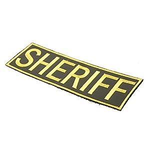 TMC Sheriff Airsoft Patch avec Velcro Dos Tactique Patch