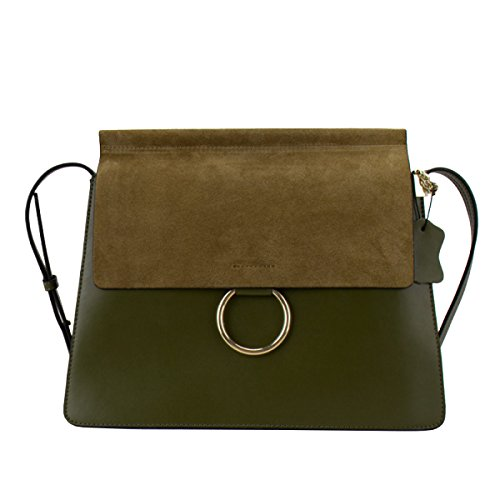 Yy.f New Leather Handbags Donna Anello Borsa Messenger Bag Piccolo Pacchetto Quadrato Matte Multicolor Verde