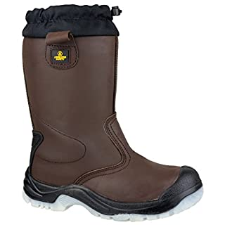 Amblers Steel FS219 Safety Pull On Safety Footwear Leather - Size 9