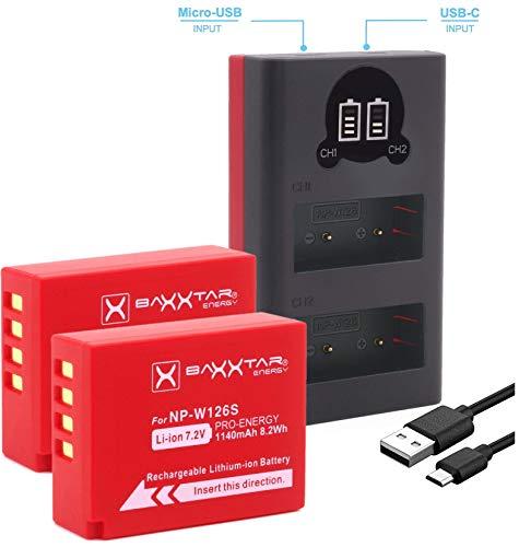 Baxxtar Pro 2X Compatible batería Fujifilm NP-W126s