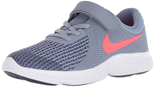 Nike Jungen Kleinkinder Laufschuh Revolution 4 (PSV) Sneakers, Mehrfarbig (Ashen Slate/Flash Crimson/Diffused Blue 400), 28 EU