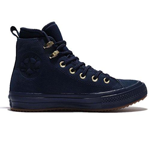 Converse All Star Waterproof Hi Damen Sneaker Blau Midnight Navy/Brass