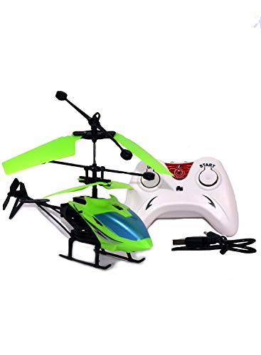 Gooyo Exceed Induction Flight Radio Remote Control Toy Helicopter with 3D Light for Kids (Indoor Flying) (Green)