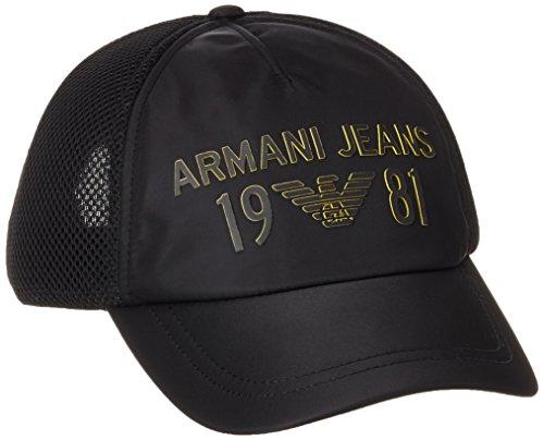 Armani Jeans Herren Baseball Cap 9340667p915 Schwarz (NERO 00020)
