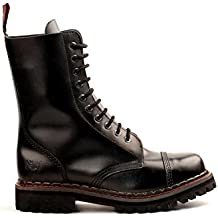 Aderlass 10-Eye Steel Boots Leather Black