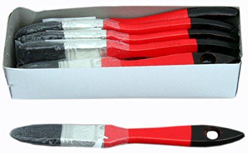 12 x Flachpinsel 20mm 5.Stärke Chinaborste schwarz 60% Tops für die Verwendung von lösemittelhaltigen Lacken, Farben und Lasuren