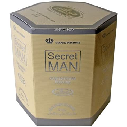 Secret Man Perfume Oil Aceite Perfumado- 6 x 6ml por Al Rehab
