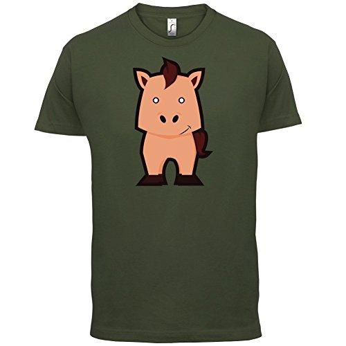 Cute Horse - Herren T-Shirt - 13 Farben Olivgrün