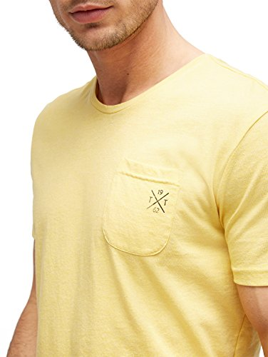TOM TAILOR Herren T-Shirt Grindle Tee sapphire yellow