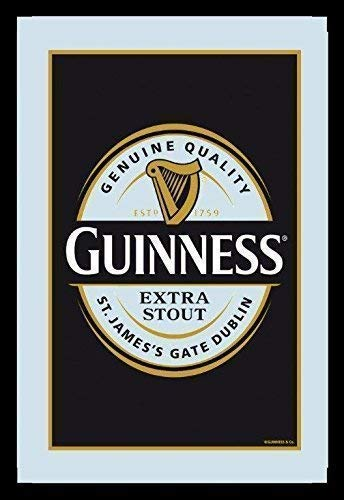 Guinness Label (Guinness Label Logo black Nostalgie Barspiegel Spiegel Bar Mirror 22 x 32 cm)