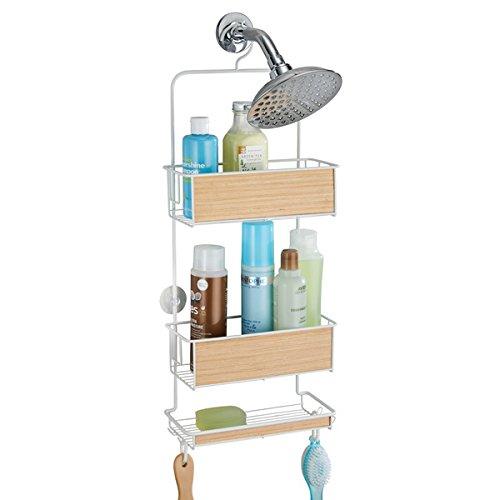 mdesign-portaoggetti-doccia-per-shampoo-balsamo-sapone-bianco-finitura-legno-chiaro