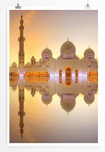 Eau Zone Home Bild - Architektur Fotografie – Sheikh Zayed Große Moschee in Abu Dhabi- Poster Fotodruck in höchster Qualität