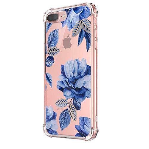 Funda iPhone 7 Carcasa Silicona Transparente Protector TPU Airbag Anti-Choque Ultra-Delgado Anti-arañazos Case para Teléfono Apple iPhone 7 Plus Caso Caja (iPhone 7 Plus, Patrón 10)