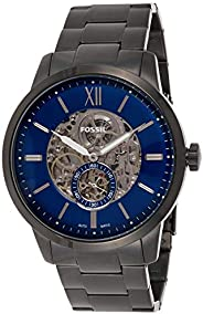 Fossil 48mm Townsman Men's Blue Dial Stainless Steel Analog Watch - ME