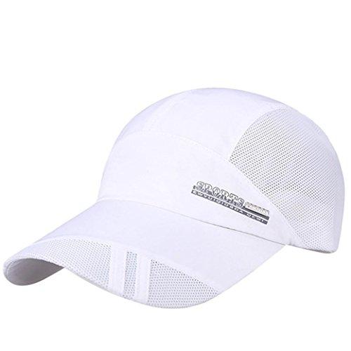 Kappen Unisex Mütze Snapback Cap Flat Brim Caps Hip Hop Baseball Cap UV-Schutz Schildmütze luftdurchlässig sportlich Baseballmütze Classic,für Herren und Damen (Weiß) -