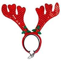 Navidad , Cute Pet Supplies Christmas Pet Red Antler Cinta para el Cabello