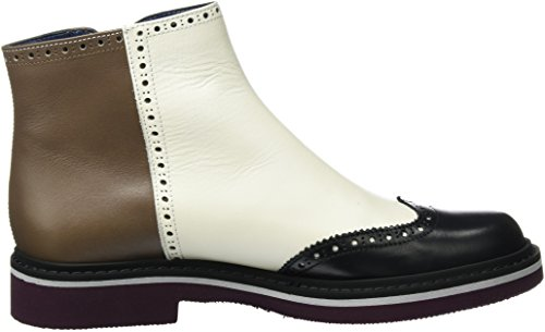 Pollini Shoes Sa21183g02td4, Botines Cortos Multicolores Para Mujer (avory / Beige / Black 11a)