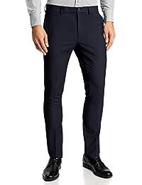 oodji Ultra Hombre Pantalones Slim con Pinzas 8xJS4rZ3MP