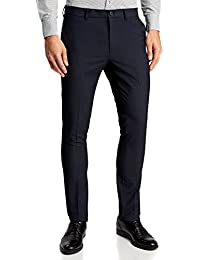 oodji Ultra Hombre Pantalones Slim con Pinzas