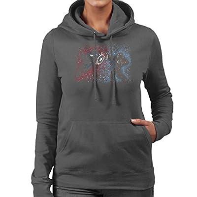 Pollok War Captain America Iron Man Women's Hooded Sweatshirt