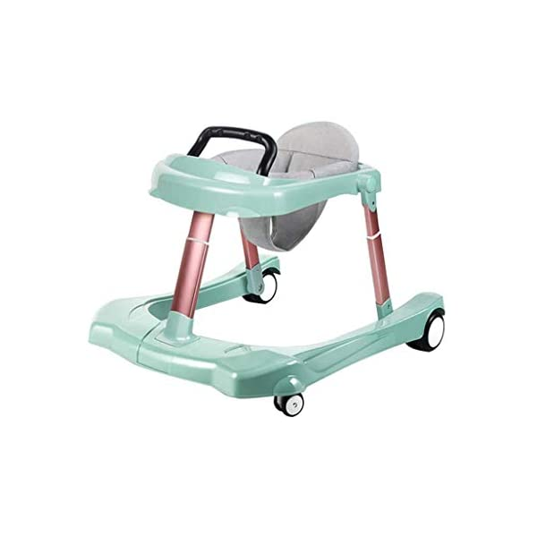 Baby Walker Multi-Function Anti Rollover U-Shaped Children Stroller 6/7-18 Months mmq ▶ height double adjustment, walker adjustment + seat cushion adjustment, according to the baby's different height, adjust to the height of the baby, let the baby comfortably walk, mute the universal wheel, no noise, no damage to the floor ▶ Heighten the thick cushion to fit the physiological curvature of the baby's cervical spine, soft and breathable cushion, detachable, easy to clean, safe and hygienic,Foldable design for easy storage ▶ Pyramid mechanics stable structure, multi-function anti-rollover, even force, help the baby to maintain body balance, reject O-legs, can cultivate the baby's correct walking posture, get out of the beautiful leg type 1
