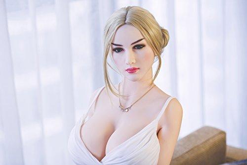 KWDoll 5.41ft Sexpuppe Charmante Mädchen Weiche Haut Liebespuppe Große Brust Benutzerdefinierte Medizinische Silikon Lebensechte Liebespuppen Liebesspielzeug (Camilly) (Brust Benutzerdefinierte)
