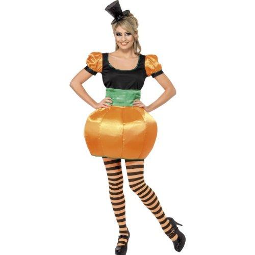 Smiffys Halloween Damen Kostüm Kürbis Jack O'Lantern verkleiden Größe S