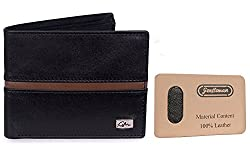 Gentleman Genuine Leather Mens Wallets (Black/Brown) Bi-Fold