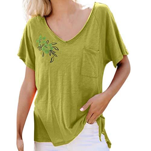 Pullover Sweatshirt für Damen,Kobay 2019 Halloween Heiligabend Weihnachten Frauen Sommer T Shirt mit Kreis Kragen Print Kurzarm Bluse Tops T Shirt Pullover -