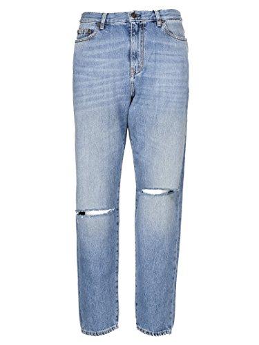 Saint Laurent Femme 500389Y868M4061 Bleu Claire Coton Jeans Saint Laurent